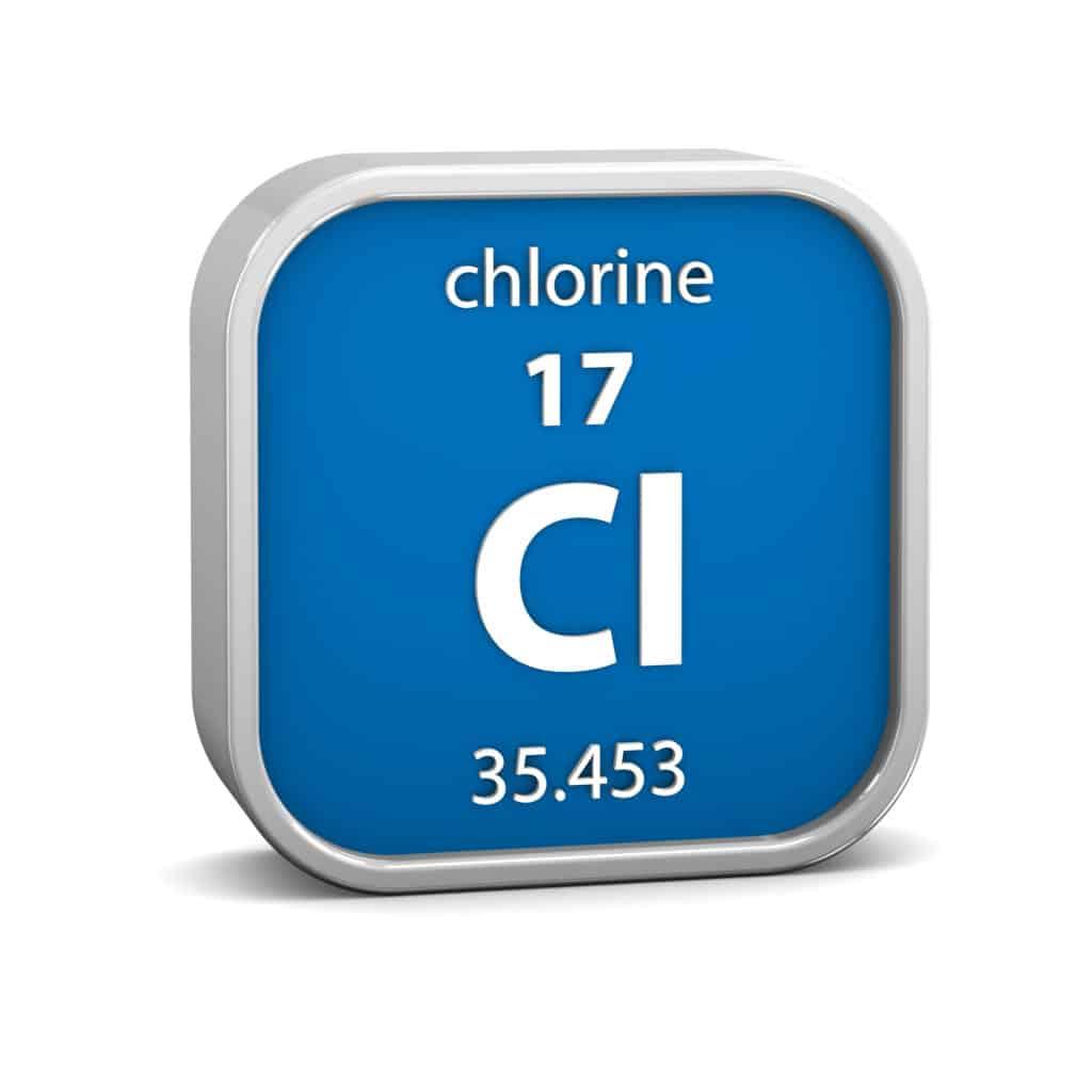 Chlorine material sign